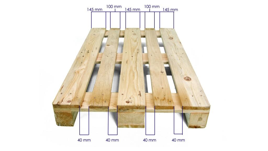 Palets de madera 1200 x 800 europalet homologado nuevo - Palets madera precio ...