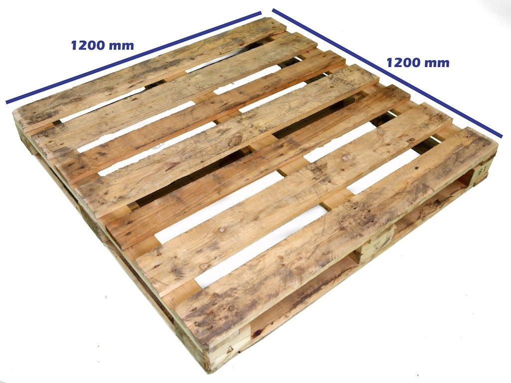 Otros palets de madera palet 1200 x 1200 reciclado for Madera para palets